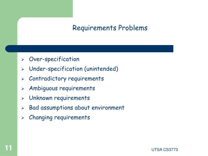 Requirements Problems