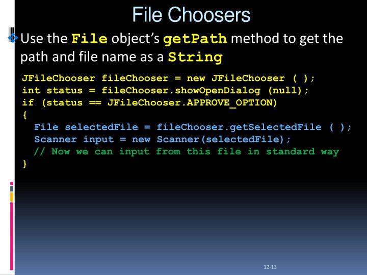 File Choosers