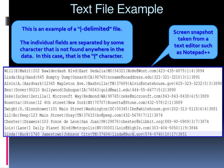 Text File Example