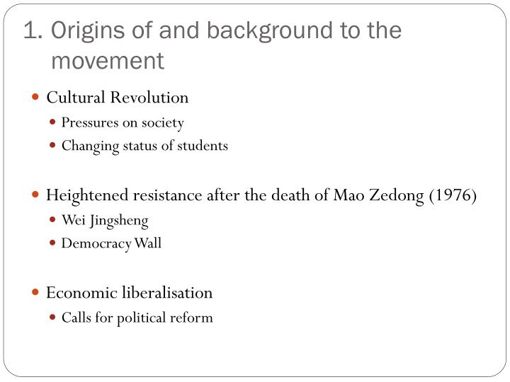 Origins of and background to the movement