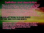 definition and description