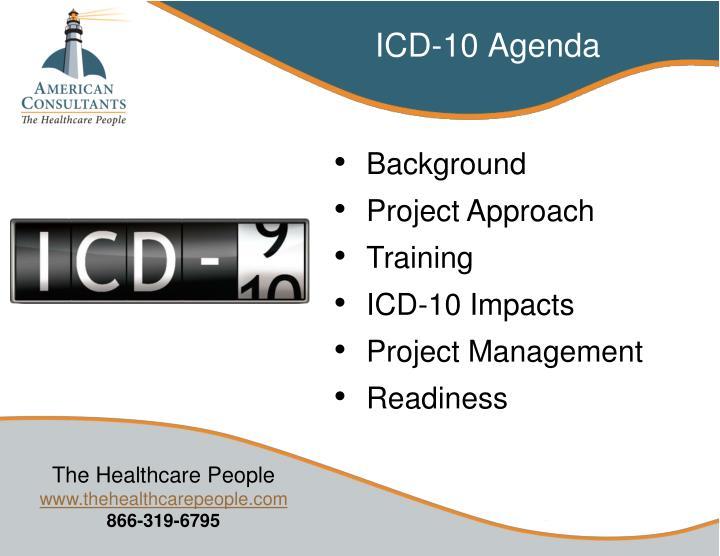 ICD-10 Agenda