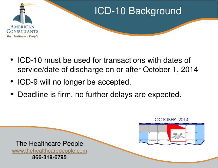 ICD-10 Background