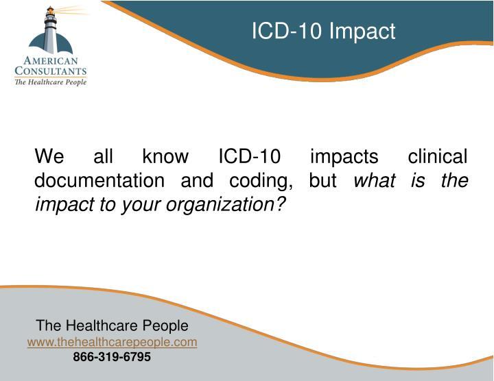 ICD-10 Impact
