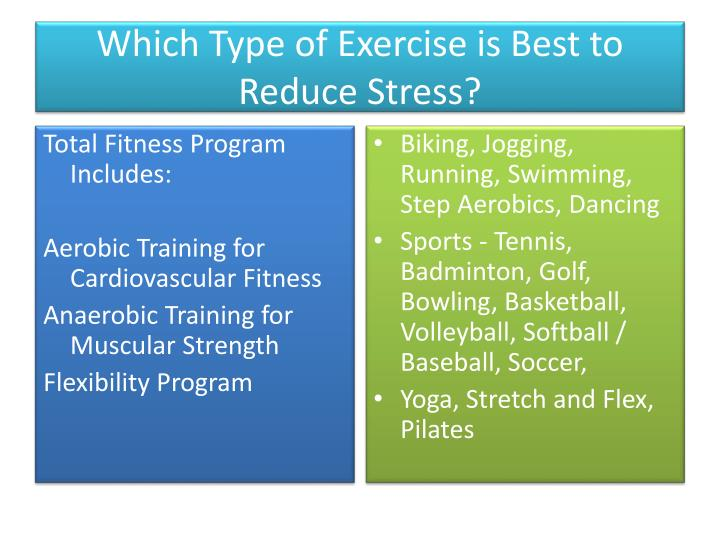 Which Type of Exercise is Best to Reduce Stress?