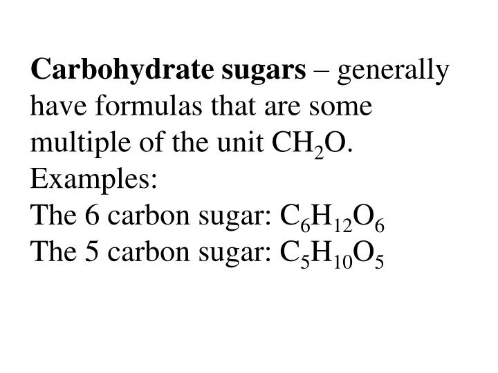 Carbohydrate sugars