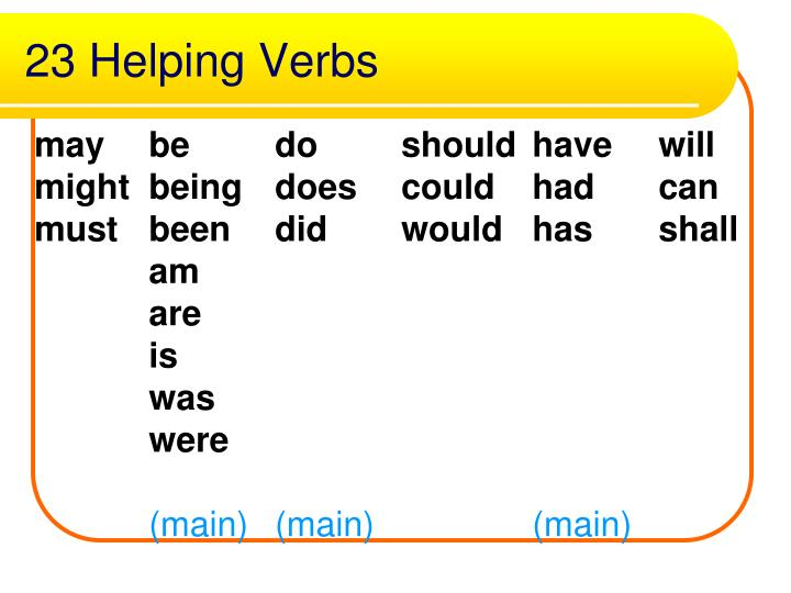 23 Helping Verbs