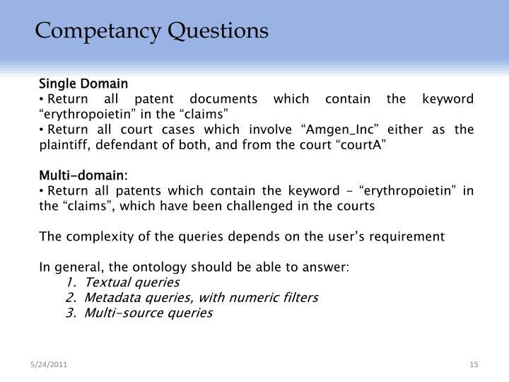 Competancy Questions