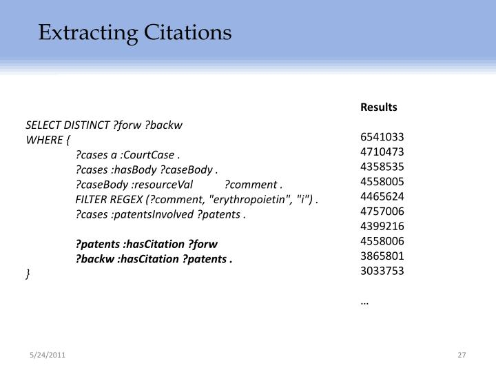 Extracting Citations