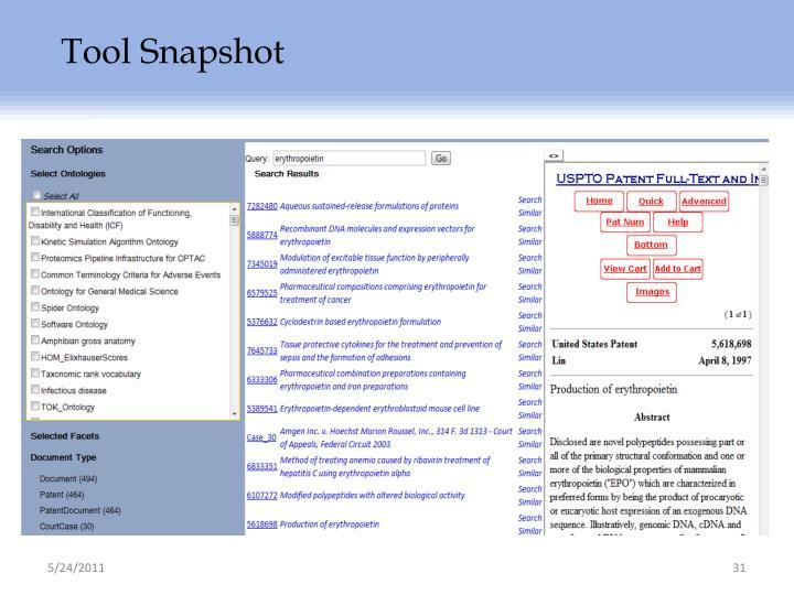 Tool Snapshot