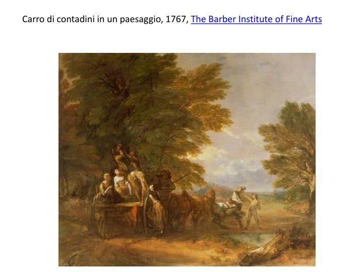 Carro di contadini in un paesaggio, 1767,