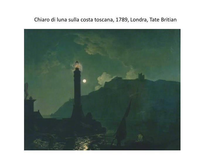 Chiaro di luna sulla costa toscana, 1789, Londra, Tate