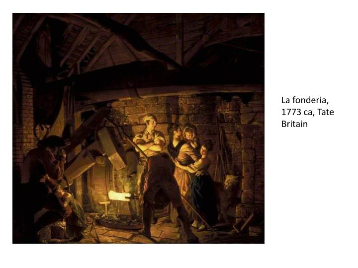 La fonderia, 1773