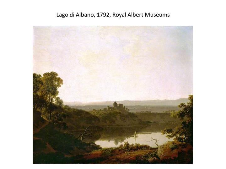 Lago di Albano, 1792,