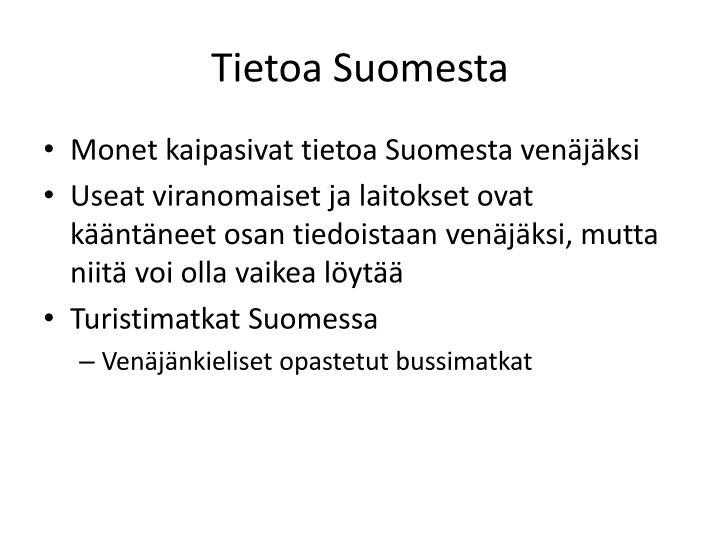 Tietoa Suomesta