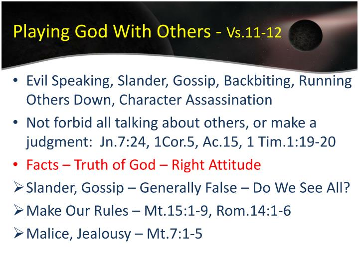 Playing God With Others -