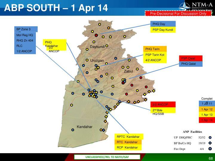 ABP SOUTH – 1 Apr 14