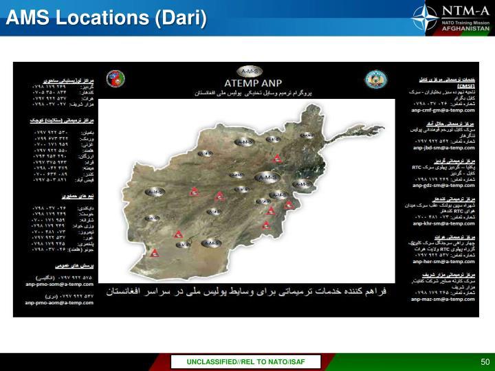 AMS Locations (Dari)