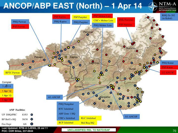 ANCOP/ABP EAST (North) – 1 Apr 14