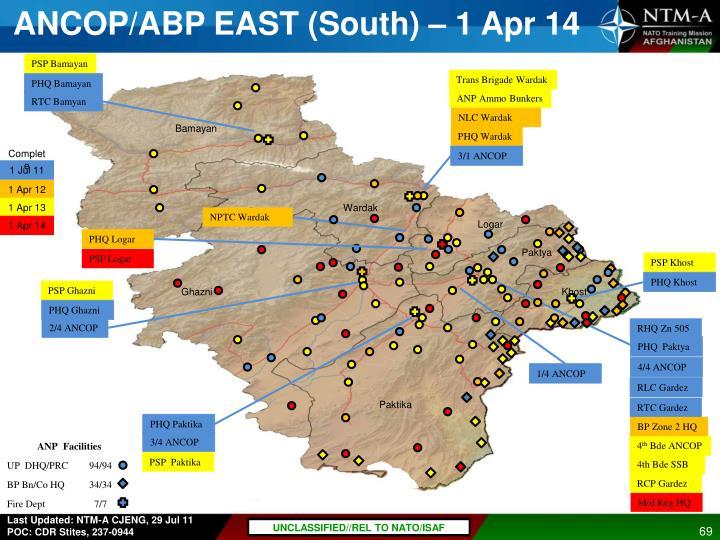 ANCOP/ABP EAST (South) – 1 Apr 14