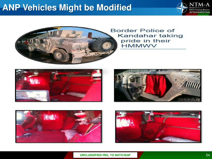 ANP Vehicles Might be Modified