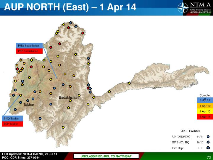 AUP NORTH (East) – 1 Apr 14