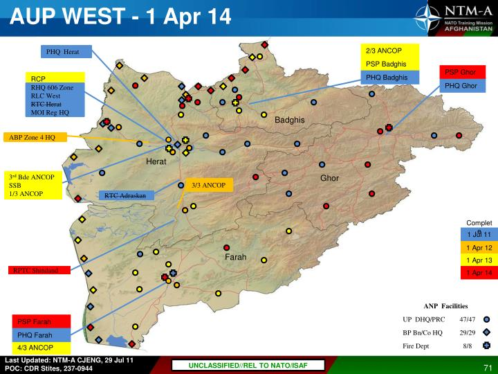AUP WEST - 1 Apr 14
