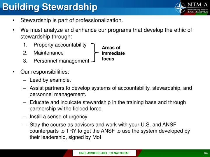 Building Stewardship
