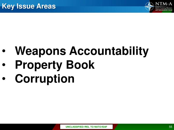 Key Issue Areas