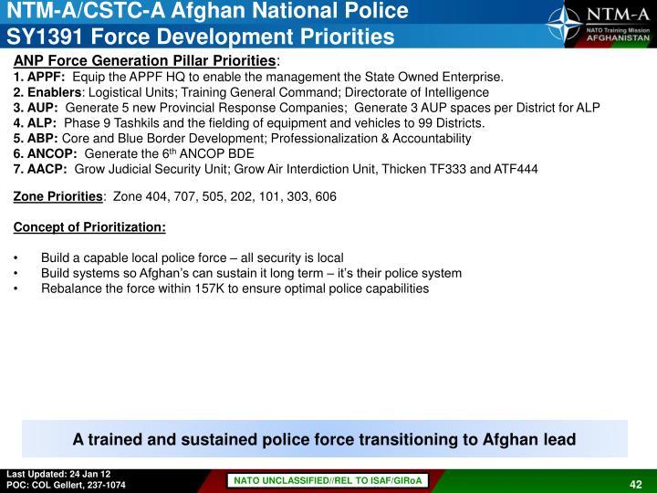 NTM-A/CSTC-A Afghan National Police