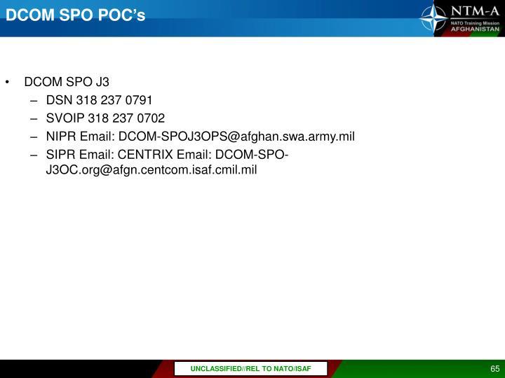 DCOM SPO POC's