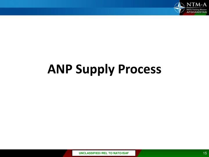 ANP Supply Process