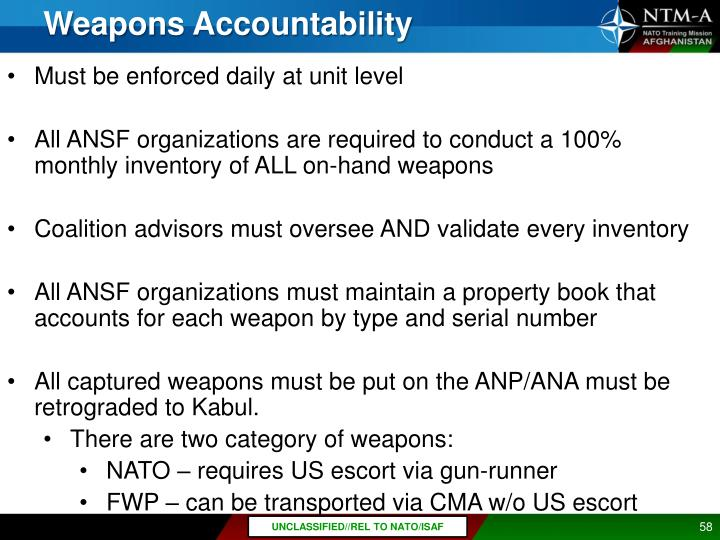 Weapons Accountability