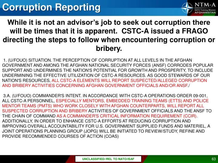 Corruption Reporting