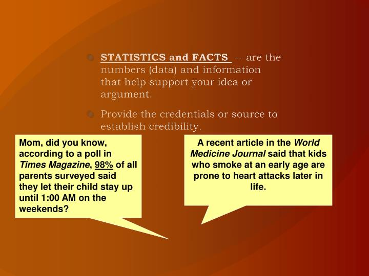 STATISTICS and FACTS