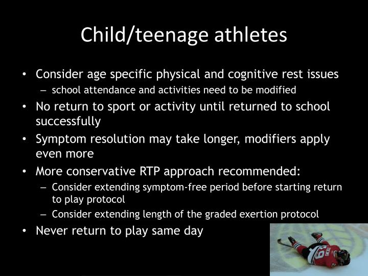 Child/teenage athletes