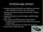 child teenage athletes