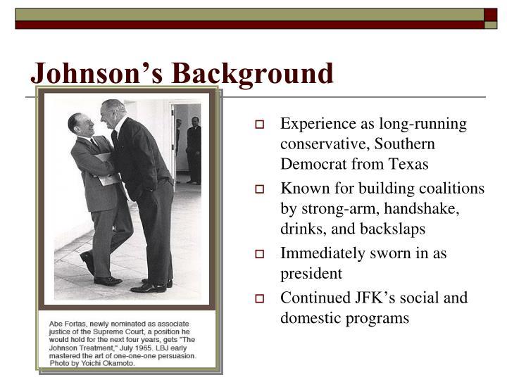 Johnson's Background