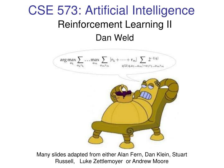 Cse 573 artificial intelligence