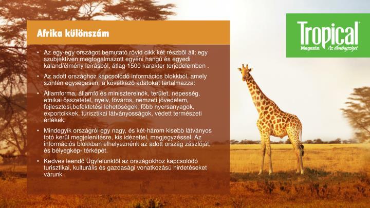 Afrika különszám