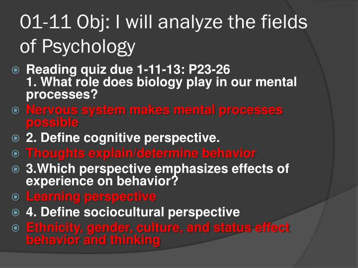 01 11 obj i will analyze the fields of psychology1