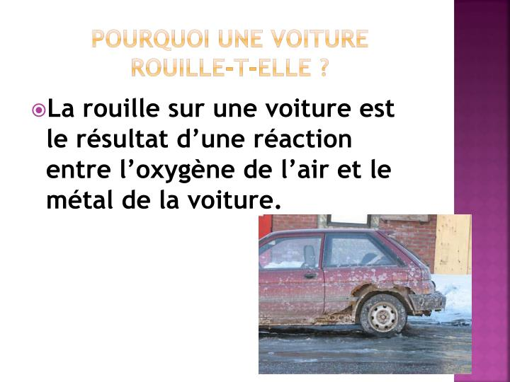 Pourquoi une voiture