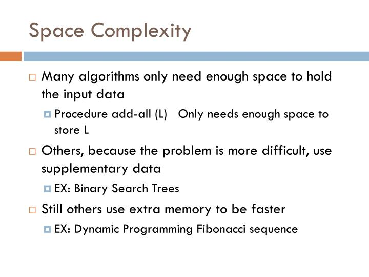 Space Complexity