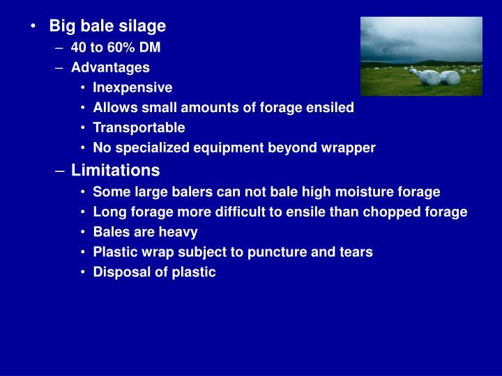 Big bale silage