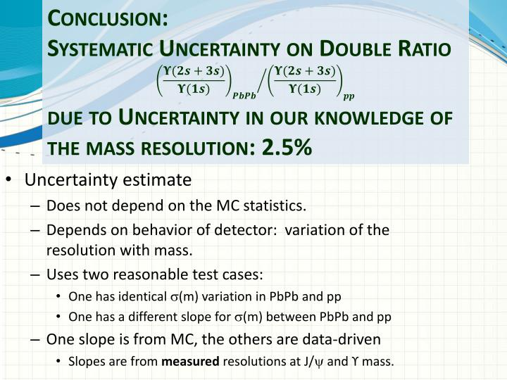 Uncertainty estimate