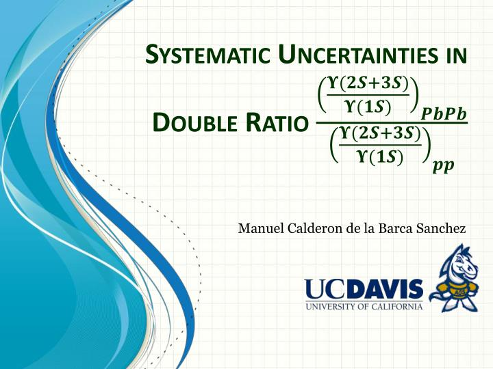 Systematic uncertainties in double ratio