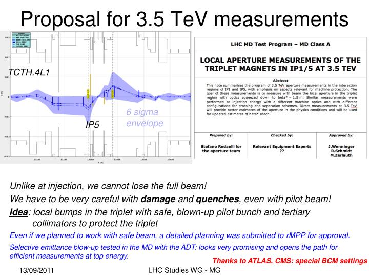Proposal for 3 5 tev measurements