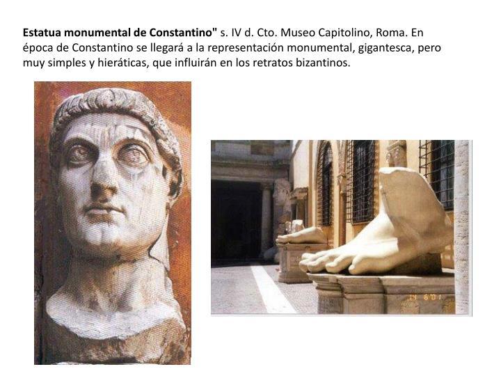 "Estatua monumental de Constantino"""
