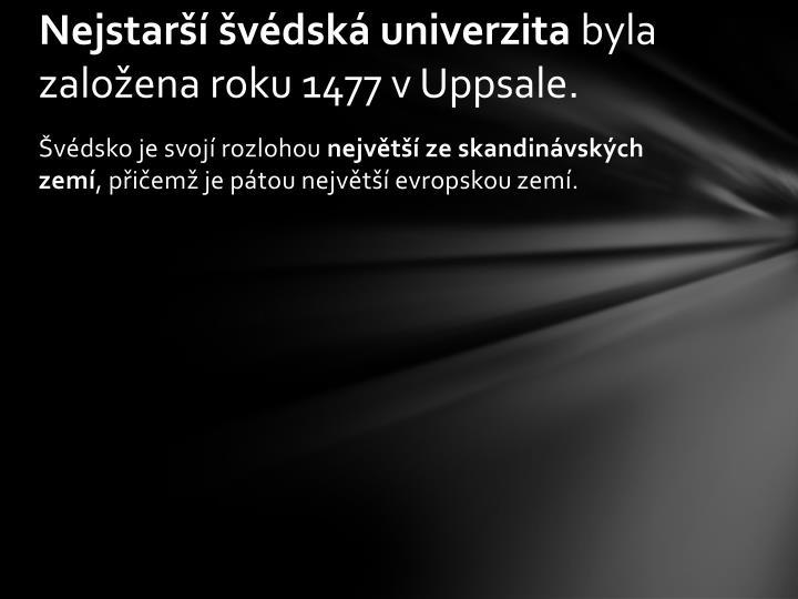 Nejstarší švédská univerzita