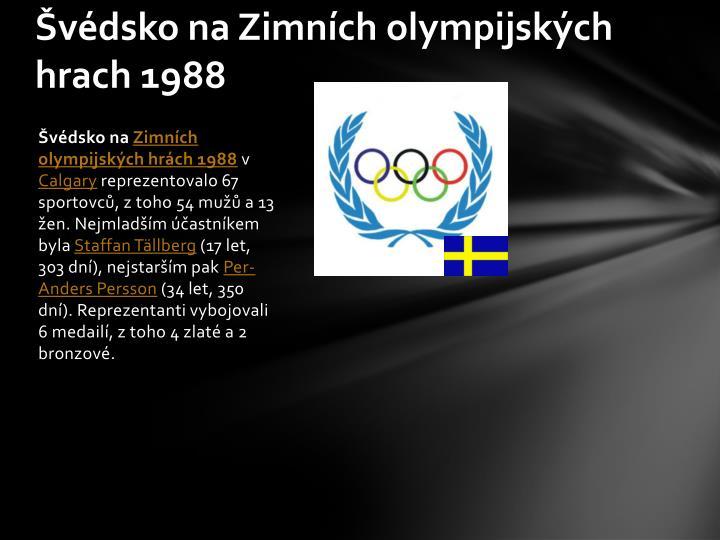 Švédsko na Zimních olympijských